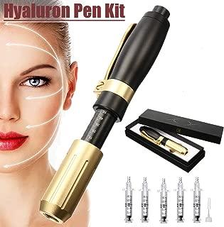 Hyaluron Pen Syringe Set with 5Pcs Syringe and 1 Needle Free Syringe Atomizer, Anti Wrinkle Lifting Lip Hyaluron Injection Pen Wrinkle Removal