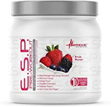 Metabolic Nutrition, ESP, Energy and Endurance Stimulating Pre Workout, Pre Intra Workout, High Energy and Mental Focus, S...