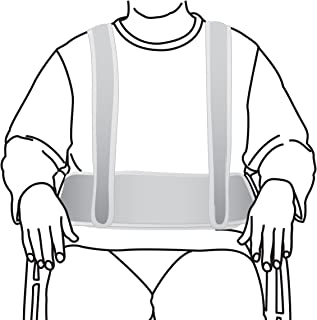 Secure WCH-1 Torso Support Self Release Wheelchair Positioning Seat Belt and Shoulder Harness - Prevent Patient Forward Sliding