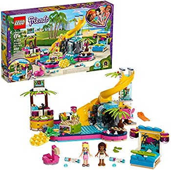 LEGO Friends Andrea's Pool Party 41374 Toy Pool Building Set (468-Pieces)