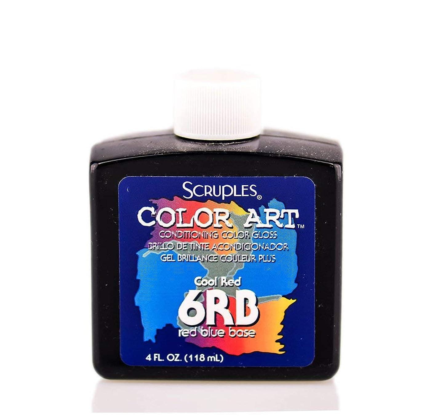 装備するスタック手当Scruples カラーアートコンディショニングカラーグロス - 6RBクールレッド
