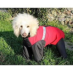 Trouser Suit Extreme Red 76cm 30 Makes a loverly gift idea The Trouser Suit Extreme from Cosipet . For All Over protection Good quality item whatever The weather . The 100 percent water and windproof Teflon coated