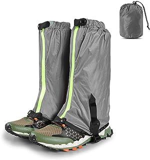 Waterproof Snow Boot Gaiters Outdoor Hiking Walking Climbing Hunting Leg Gaiters (grey)