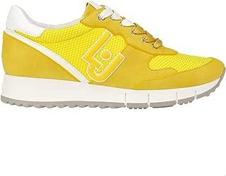LIU JO Luxury Fashion Womens MCGLCAK0000B7043E Yellow Sneakers | Season Outlet