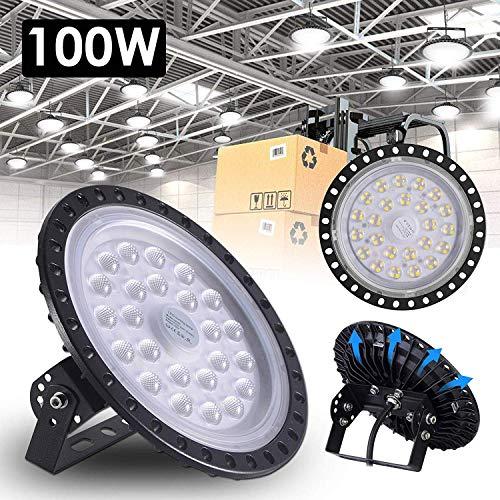 Yuanline 100W LED UFO Industrielampe, SMD 2835 9000LM LED High Bay Licht, Deckenleuchte, Hallenbeleuchtung, Werkstattbeleuchtung, LED Hallenstrahler (100W)