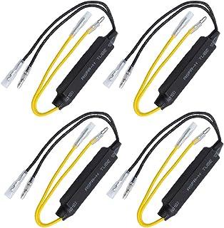 Gebildet 4Pcs 12V/21W LED Lastwiderstand Motorrad Blinker Indikator Widerstand Adapter Fix Fehler Flash Controller Blinker Licht Decoder für Motorrad, Motorrad, Roller