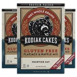 Kodiak Cakes Gluten Free Protein PancakeMix, Flapjack and Waffle, 16 Ounce (Pack of 3) - Frontier Oat