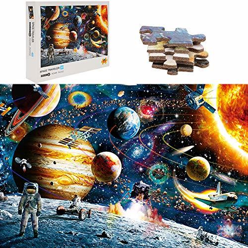 TINYOUTH 1000 Teile Große Weltraum Puzzle für Erwachsene, Planeten Puzzle, 70x50cm 2mm Karton Puzzle - Familienpuzzle Verringerter Druck Schwieriges Puzzle Rahmen Puzzle für Kinder Erwachsene