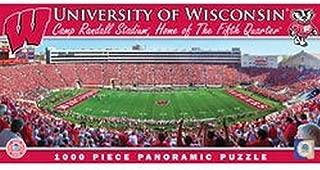 NCAA Licensed 1000 piece Panoramic Stadium Masterpieces Puzzle (Wisconsin Badgers/Camp Randall Stadium)
