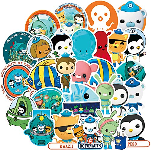 Octonauts Stickers for Water Bottles,50Pack Laptops Sticker,Waterproof Vinyl Decal Sticker for Phone,Bicycles, Mac Book,Computer, Hydro Flasks, Cars, PS4, Xbox ONE.