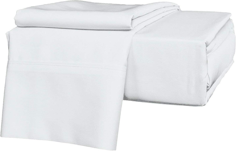 Precious Star Linen Luxury Hotel-Bedding 100% Egyptian Cotton - Genuine 1000 Thread Count Hypoallergenic 4 Piece Sheet Set Fits Mattress Up 16'' to 18'' Deep Pocket (Twin 39 ''x 75'', White Solid)