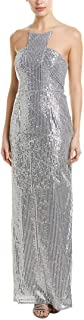Adrianna Papell Womens Gown, 6, Metallic