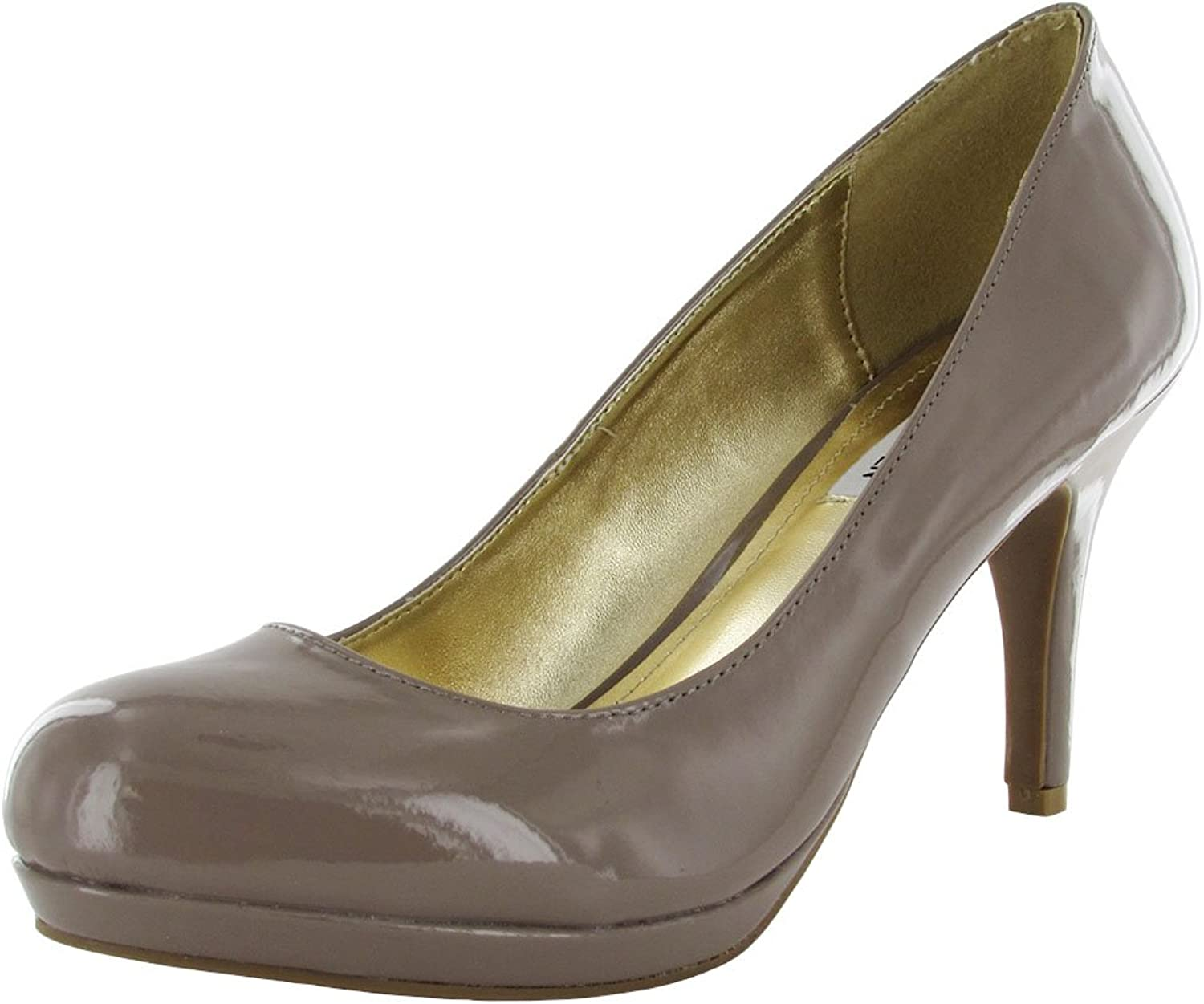 Steve Madden Womens P-Pollie Slide Stilleto Pump Heel, Taupe, US 9.5
