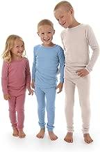 Merino Wool Kids Pajama Set. Thermal Underwear Base Layer PJ Unisex.