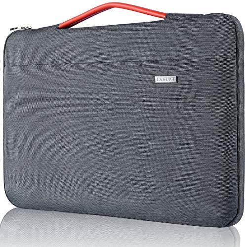 Landici Laptop-Hülle mit vertikalen Taschen, kompatibel mit MacBook Air 11,6 Zoll / 30,5 cm, HP Stream 11, Acer, Lenovo, Samsung, Google, iPad Pro 12,9 Zoll, Grau