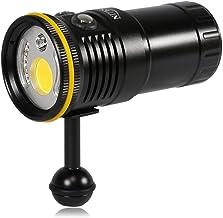WanuigH Video-zaklamp, 6000 lumen, met rood licht en uv-licht, gemakkelijk te bedienen (kleur: zwart, afmetingen: 57 x 118...