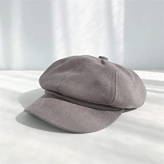 ZiWen Lu Octagonal Cap Female Spring and Autumn Korean Version of The New Solid Color Painter Cap Benn net red Beret hat Leisure Wild Male (Color : Grey, Size : One Size)