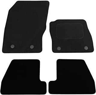 Anthracite Tailored Car Mats with Grey Trim /& Black Double Thickness Rectangle Heel Pad 2011-2015 Car Mats to Fit Focus MK3