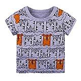 Webla Ropa de Verano Bebé Niño Niños Animal Print T-Shirt Tops Manga Corta Blusa Trajes Ropa para Niño 1-6 Años