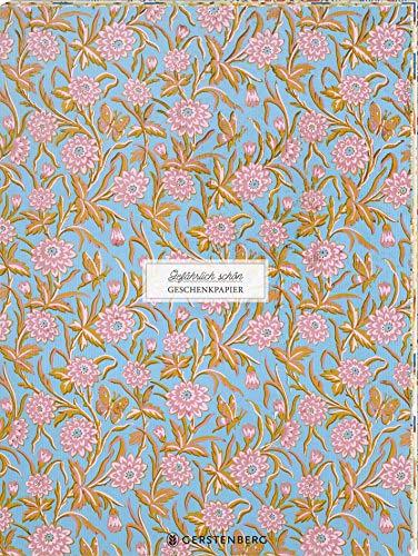 Gefährlich schön Geschenkpapier-Heft - Motiv Rosa Blüten: 2 x 5 Bögen