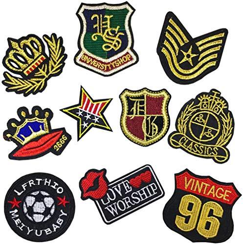Parches para planchar con bandera militar, insignias del ejército, corona dorada, parches para pantalones vaqueros, chaqueta, ropa, accesorios de bricolaje, pegatinas