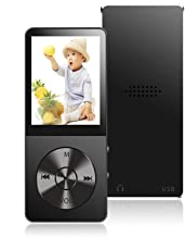 $21 » MP3 Player, 16GB MP3 Player with Hi-Fi Lossless Sound, Portable Music Player with Light Metal, Build-in Speaker, Video Pla...