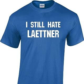 I Still Hate Laettner on a Blue Short Sleeve T Shirt