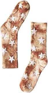 MYhose AR Tie-Dye Coton Crew Chaussettes Hiver Chaud Terry Basketball Skateboard Bonneterie Crew Chaussettes Café