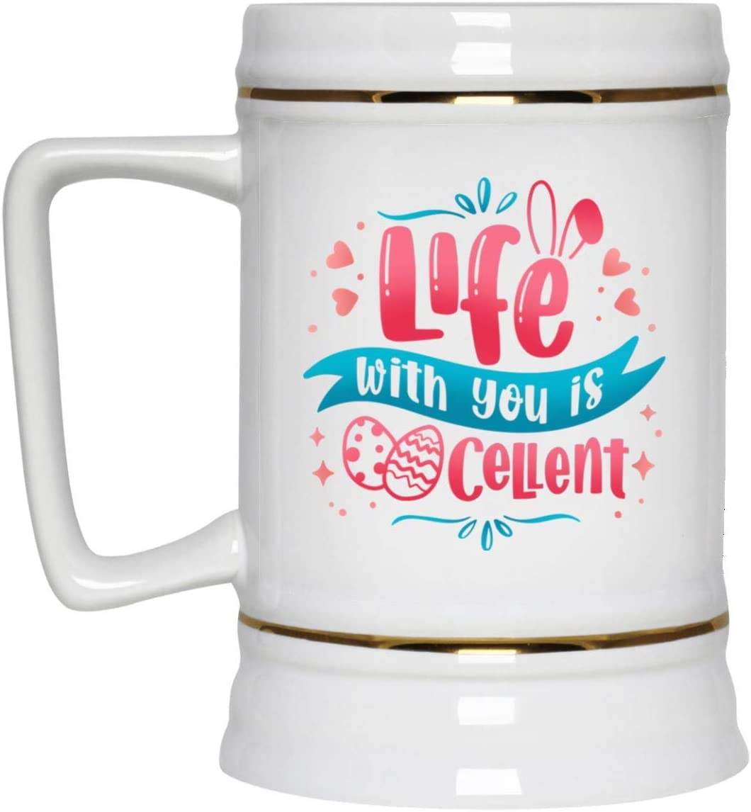 Ranking TOP6 FamWix Life with You is Soldering Eggcellent Egg Mug Ceramic Coffee Easter