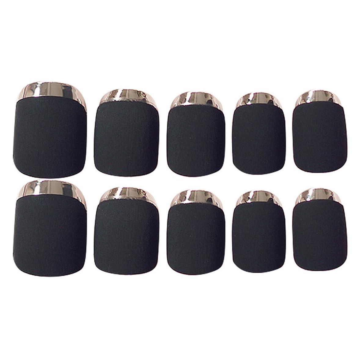 交じるモード折ゴシレ Gosear 24 個 12 サイズ ネイルチップ 人工偽爪のヒント 黑色