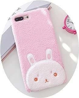 Flannel for iPhoneX XS Cute Cartoon 8plus Protective Sleeve 6S Lovers 7plus,Little Rabbit,for 6Plus 6sPlus