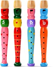 Bokeley Toys Small Wooden Recorders for Toddlers,Colorful Piccolo Flute for Kids, Baby Early Education Music&Sound Toys Learning Rhythm Musical Instrument, (AS Show)