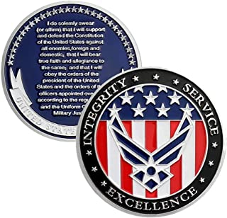 US Air Force Oath of Enlistment Challenge Coin for Airman's Gifts
