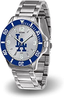 Rico Los Angeles Dodgers MLB Key Watch with Stainless Steel Band
