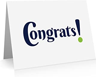 Congratulations Cards (12 Cards and Blank Envelopes) Congrats Cards. Graduation Cards, New Job Greeting Cards