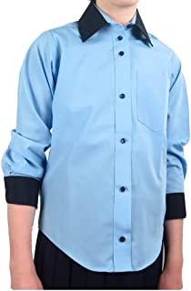 Betty Zee Girls Blouse School Uniform Shirt Long Sleeve