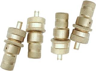 GOZAR 4 szt. mosiężne Off The Road automatyczne opony deflators zestaw akcesoriów 6-30 PSI regulowany odpowietrzacz zestaw...