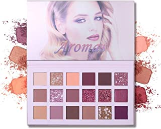 UCANBE 18 Colors New Nude Eyeshadow Palette, Matte Shimmer Nude Glitter Professional Natural Long-Lasting Eyeshadow Multi Reflective Fairy Cosmetic Eye Waterproof EyeShadows