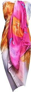 TOSKATOK Dames Femmes Grand Multicolore Floral Lumineux Motif Plage Vacances Sarong Jupe