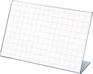 タカ印 ポップ スタンド カード立 L型 34-3320 透明 68×96mm表示 10個