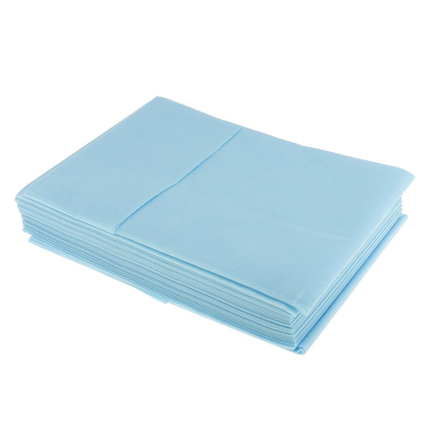めったに無効にする建築家Perfk 10枚入り 使い捨て 衛生シート ベッドパッド 旅行用 美容室/マッサージ/サロン/ホテル 店舗用品 全3色選べ - 青