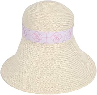 Hats Outdoor Summer Beach Hat Women's Straw Sunhat Cool Visor Hats Fashion (Color : Beige, Size : One Size)
