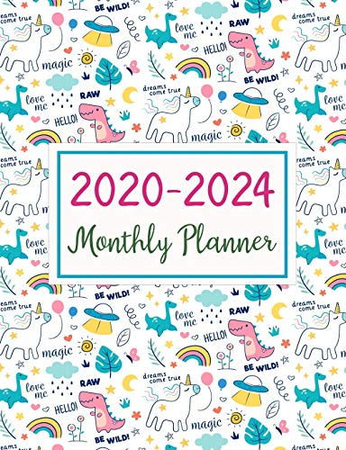 2020-2024 Monthly Planner: Five Years Monthly Planner (60 Months Calendar) For To Do List Journal Notebook | Academic Schedule Agenda Logbook Or ... Weekly & Monthly Planners Holidays, Band 5)