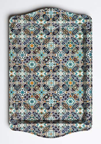 BOHORIA® Premium Design Serviertablett - Dekorative Servierplatten für Glas, Tassen, Schälchen auf ihrem Holz-, Glas- oder Stein-Esstisch (Mosaique)