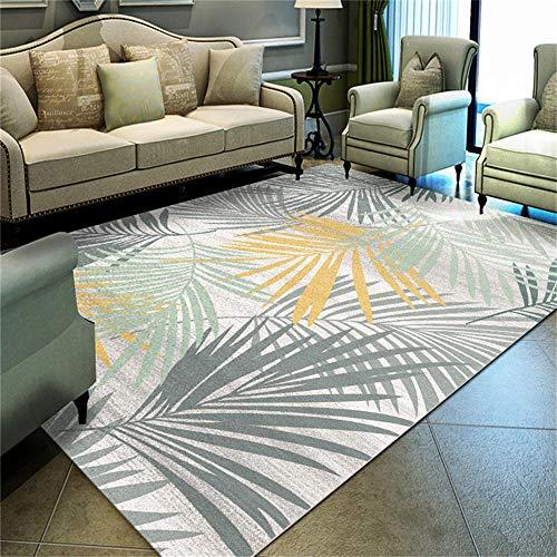 WQ-BBB Alfombra Infantil Insonorizar Decoración de Estilo Pastoral Simple en Gris, Amarillo, Verde Claro alfombras pequeñas 80X120cm