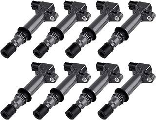 ROADFAR Pack of 8 Ignition Coils Fit for Chrysler Dodge Jeep Mitsubishi 1999-2008 V8 V6 3.7L 4.7L Equivalent with OE: UF270 UF297 UF399