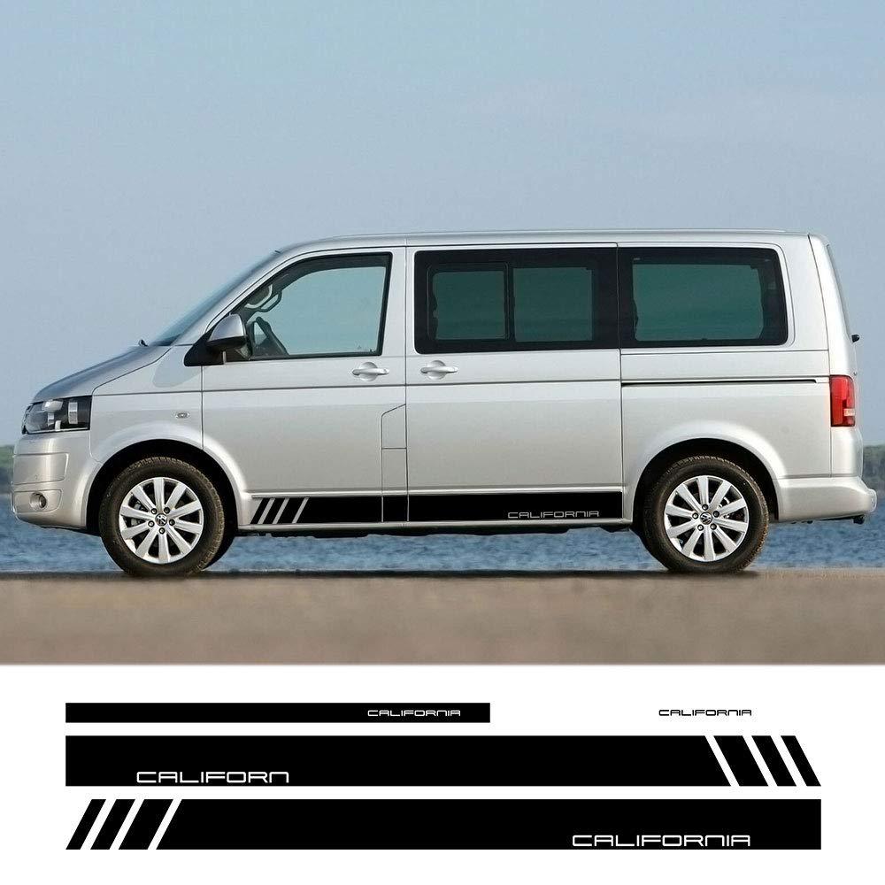 JIERS Para VW Multivan Transporter Caravelle T4 T5 T6, Faldones Laterales de la Puerta del Coche Pegatinas de Rayas Pegatinas Calcomanías para automóviles: Amazon.es: Deportes y aire libre