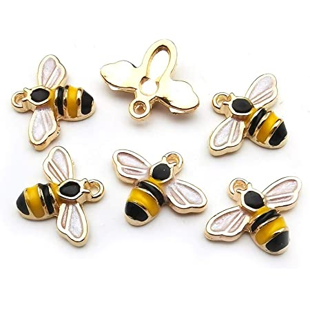 DIY Jewelry Making Insect Charm BD698-E12206 Bee Connector CZ Micro Pave Bee Beads Spacers 23x17mm Bee Pendant Silver Bee Charms