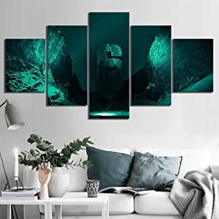 Jl Premium Quality Picture Tom Clancy's Rainbow Six Siege Canvas Wall Art - HD Print 5 Pieces Art Wall Home Decor Prints Pictures,A,30x502+30x702+30x801