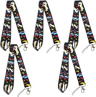 Tomaibaby 5pcs Phone Lanyard, Phone Key Chain Holder Cartoon Unicorn Mobile Phone Neck Strap Lanyard Hanging Rope